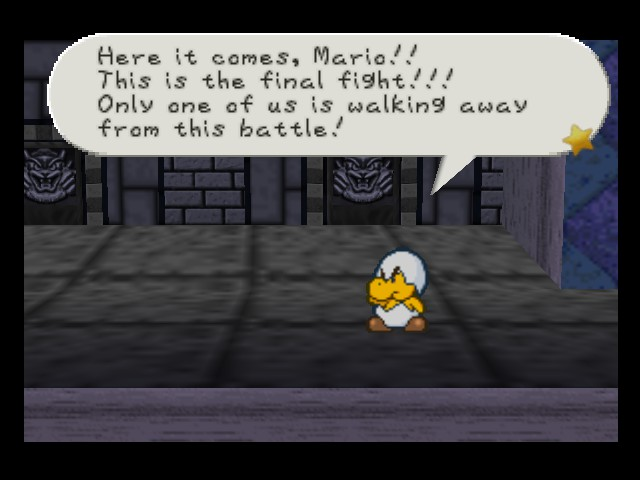 Paper Mario - Battle  - and what makes you think you\